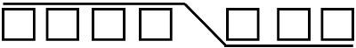 7 перекрещенных петель с наклоном влево