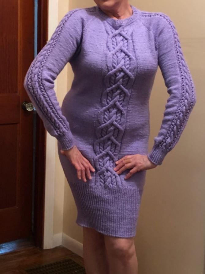 платье женское вязаное