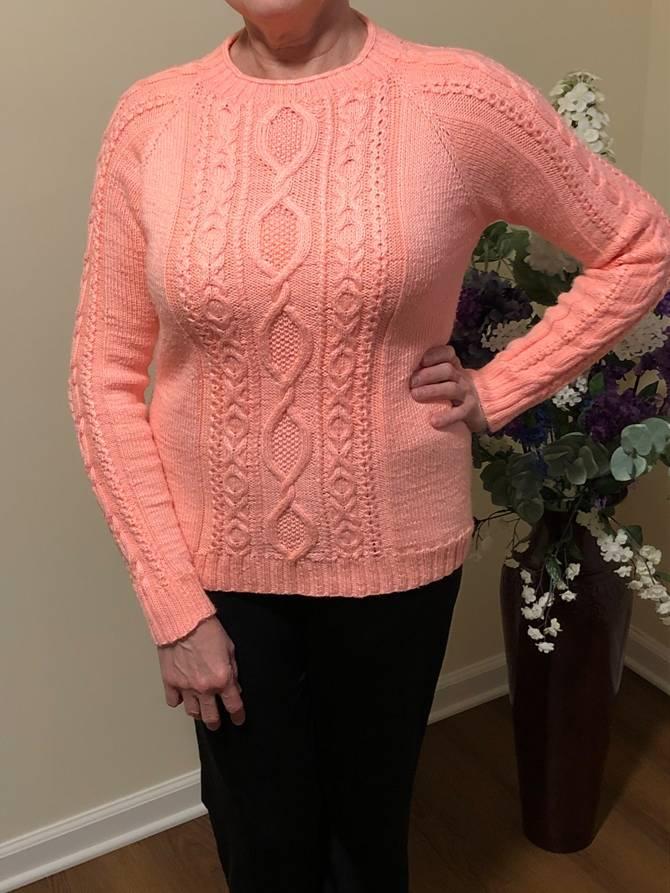 женский джемпер розовый